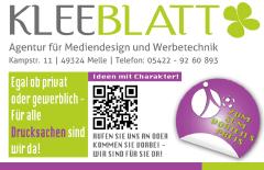 SC Melle 03 - Sponsor Kleeblatt Werbung