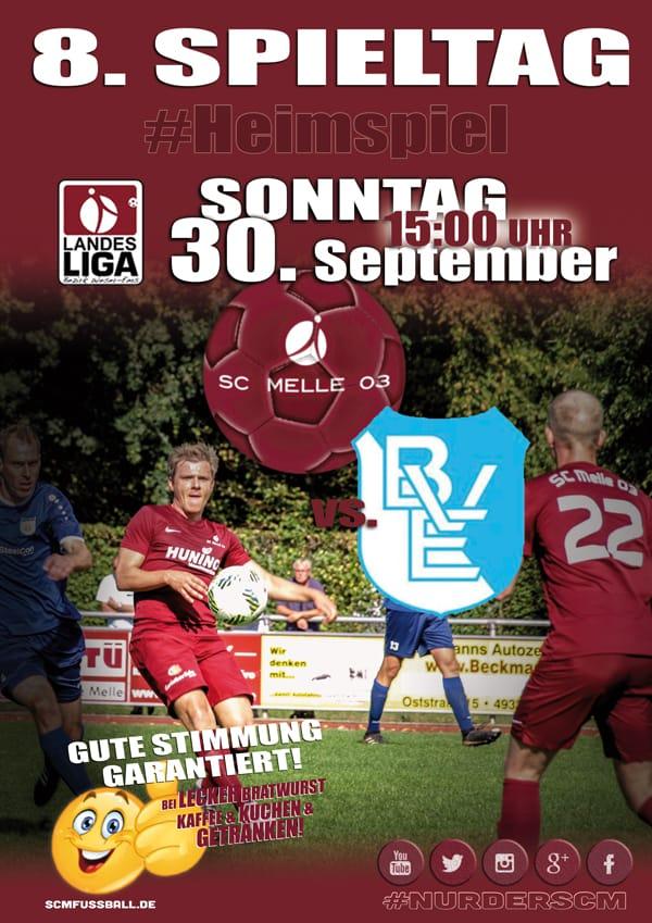 Spieltag 8 Fußball Landesliga Weser-Ems 18/19 SC MELLE 03 gegen BV Essen
