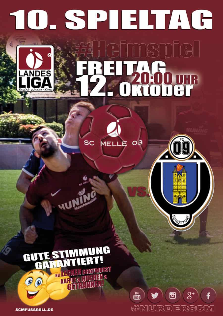 Spieltag 10 Fußball Landesliga Weser-Ems 18/19 SC MELLE 03 gegen FC Schüttorf