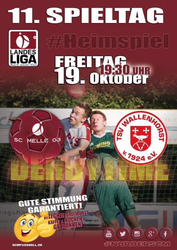 Spieltag 11 Fußball Landesliga Weser-Ems 18/19 SC MELLE 03 gegen TSV Wallenhorst