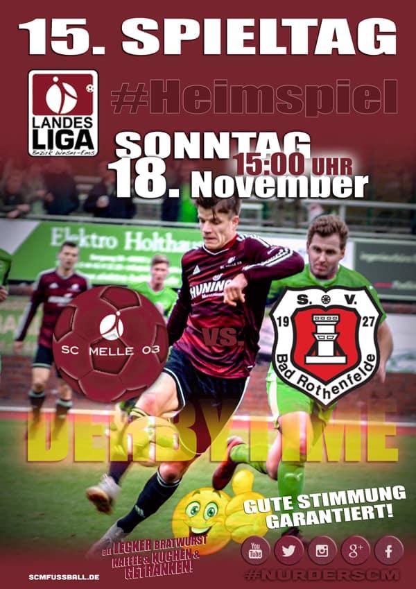 Spieltag 15 Fußball Landesliga Weser-Ems 18/19 SC MELLE 03 gegen SV Bad Rothenfelde
