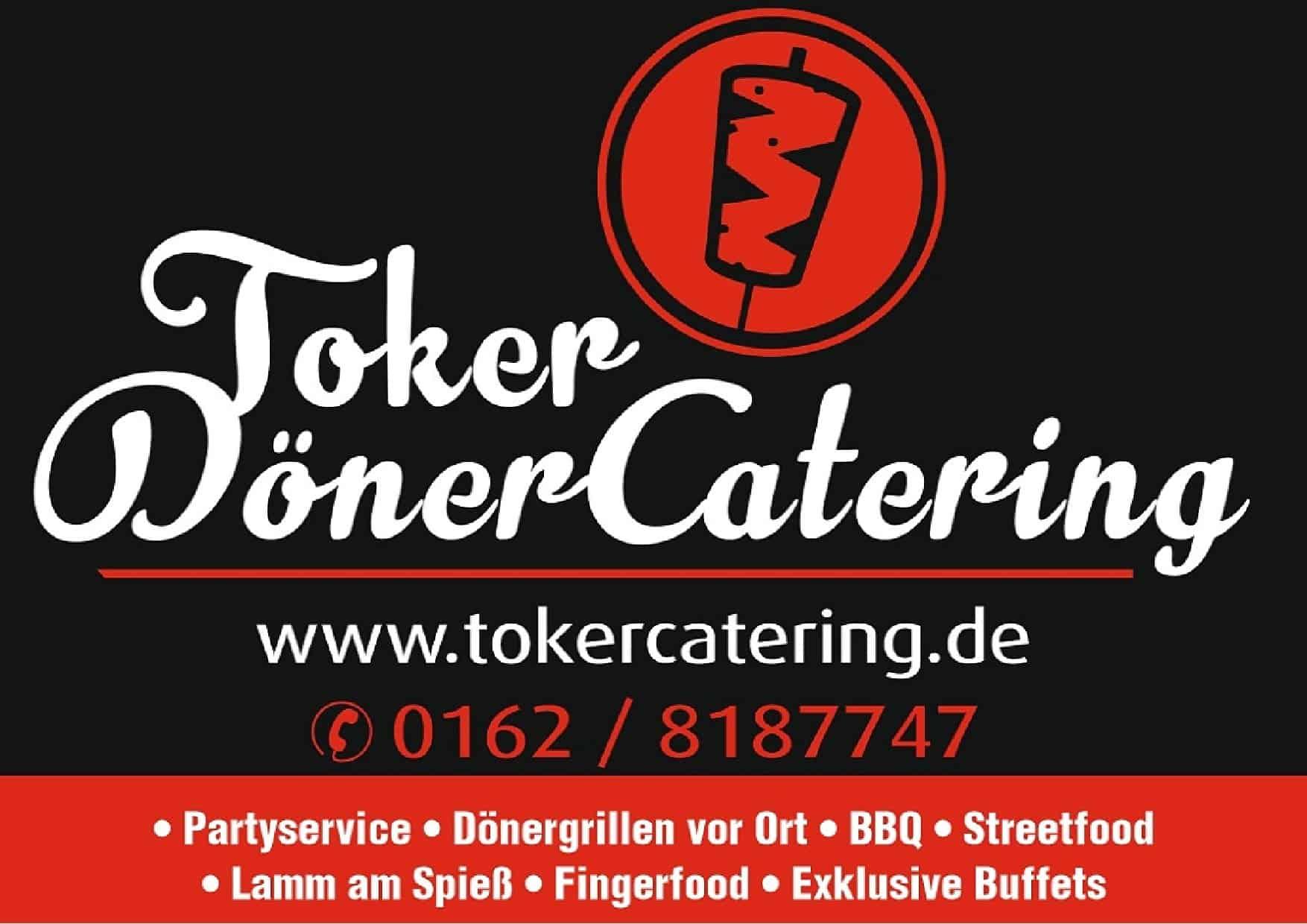 SC Melle 03 - Logo Toker-Catering - Partner des SCM Fussball